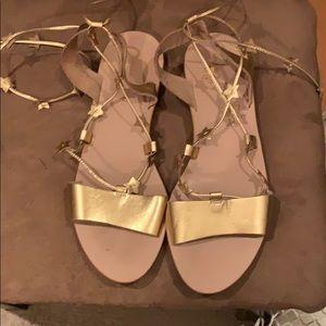 New! Loeffler Randal Starla flat sandal size 10